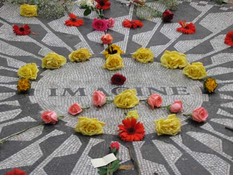 Imagine: Strawberry Fields Memorial for John Lennon in Central Park