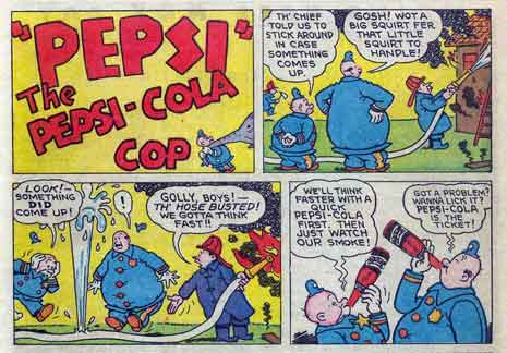 Pepsi ad is from the November 1946 issue of Golden Age comic 'Crime Does Not Pay'