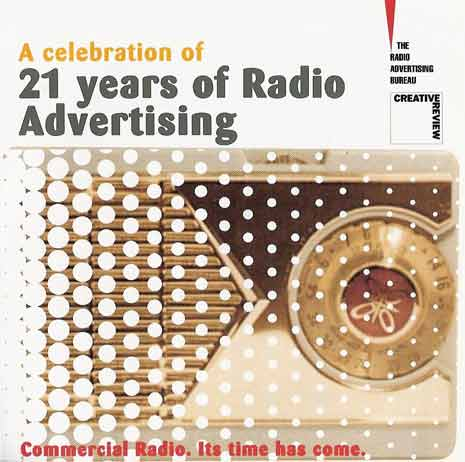 Ad from The Radio Advertising Bureau: Commerical Radio, It's Time Has Come.