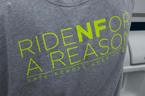 Ride N for a reason printed on t-shirt