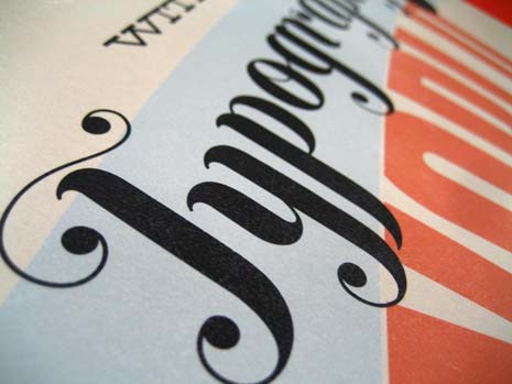 Typographic design of the word 'typography'