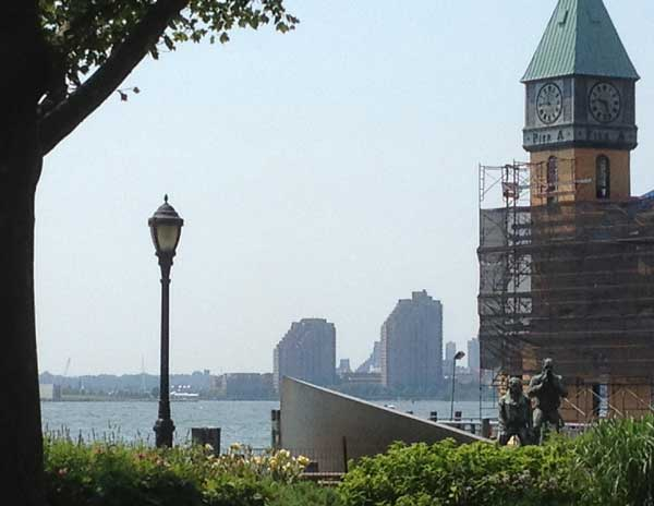 View looking west from Battery Park