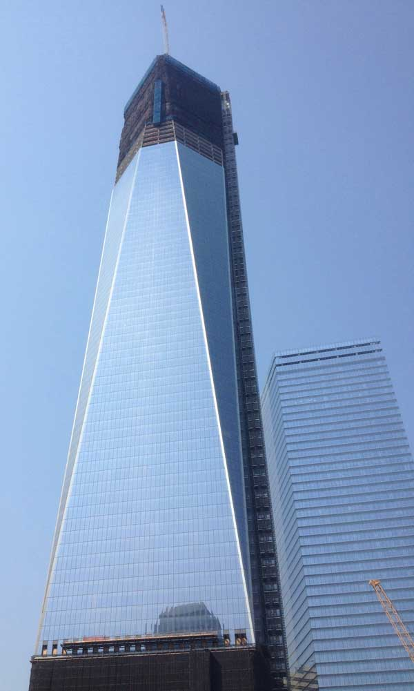 Freedom Tower at One World Trade Center under construction