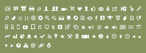 Modern Pictograms icon font at Font Squirrel
