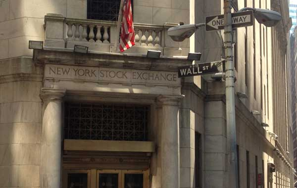 Entrance to New York Stock Exchange