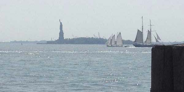 Statue of Liberty seen from Battery Park