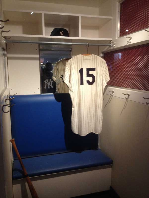 Thurman Munson's locker in the Yankee Stadium Museum