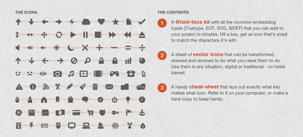 Icon fonts from Tipogram