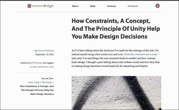 Screenshot of the post 'How Constraints, A Concept, And The Principle Of Unity Help You Make Design Decisions'