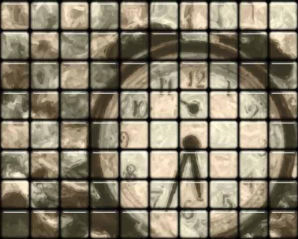 Tile Clock - Texture