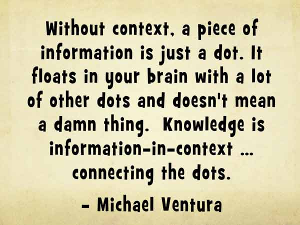Knowledge is information-in-context