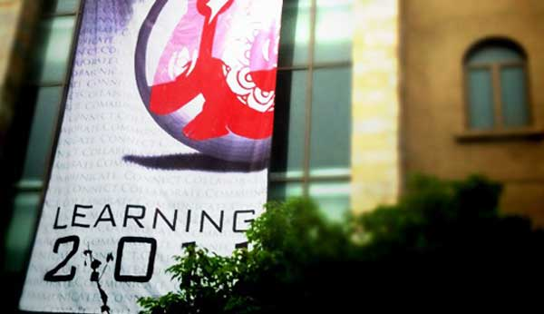 Banner in front of Learning 2.011 conference
