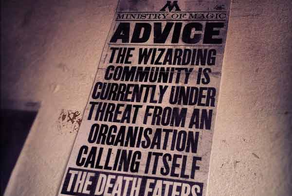 Poster with advice for wizards