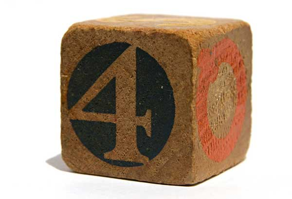 Vintage wooden block