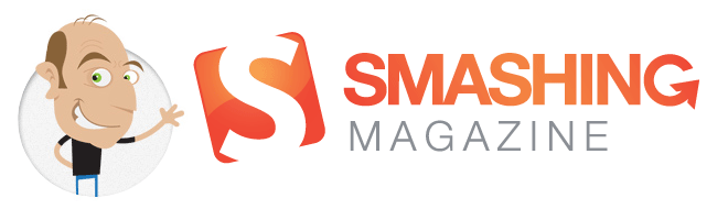 Vitaly Friedman cartoon with the Smashing Magazine logo