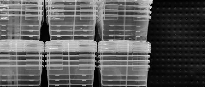 plastic container organizers