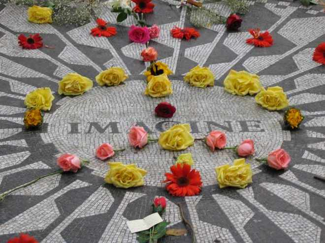 Strawberry Fields Memorial, Central Park, NY