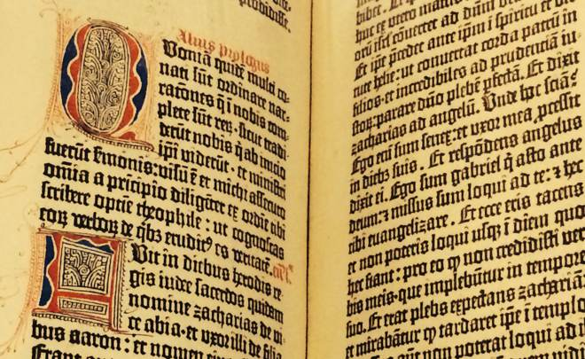 Pagefrom a Gutenberg Bible