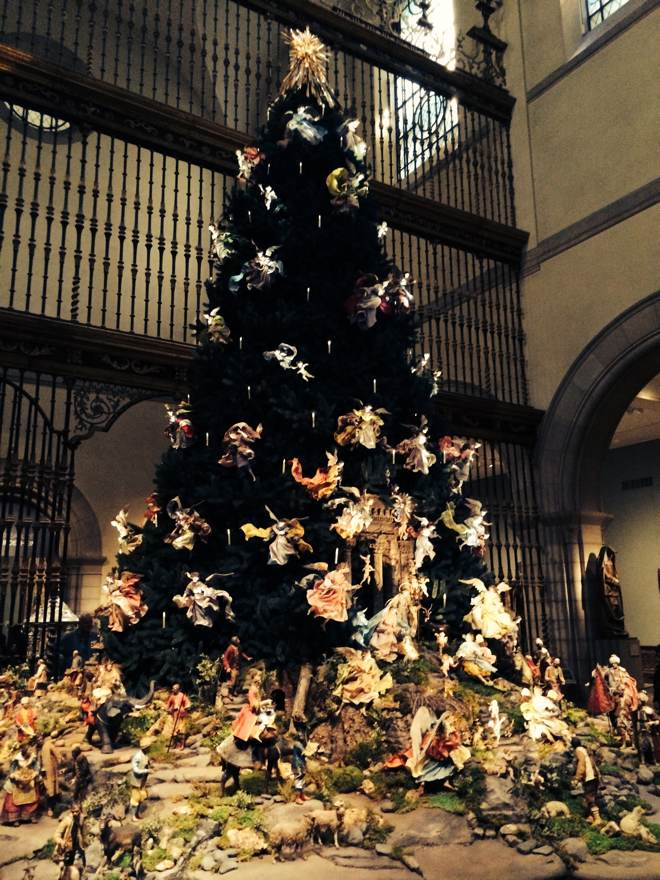 Christmans tree at the  Metropolitan Museum of Art