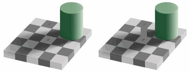 Chessboard Square Illusion