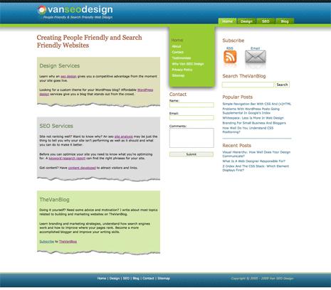 Van SEO Design home page