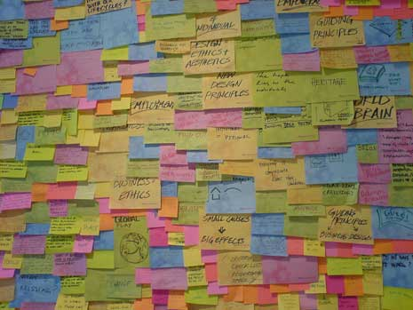 Brainstorming with Post Its