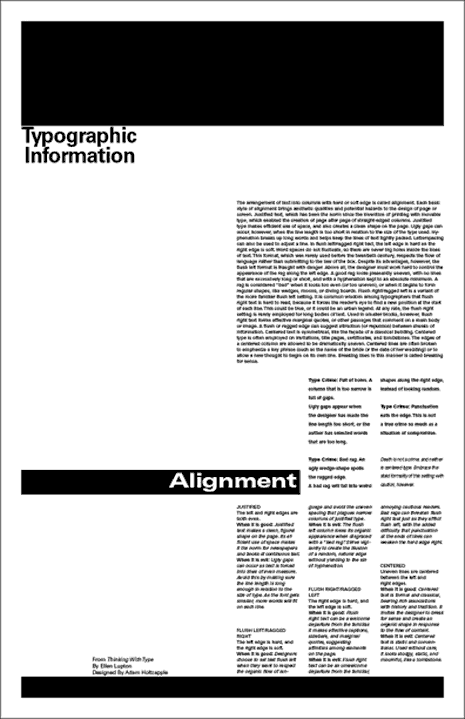 Typographic information poster by holtzapple