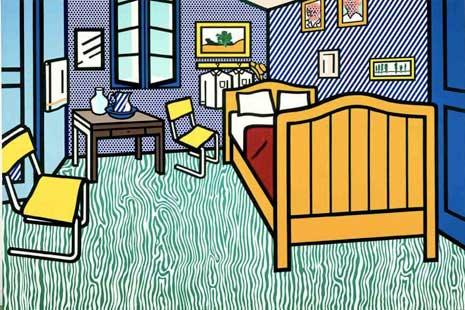Bedroom at Arles by Lichtenstein