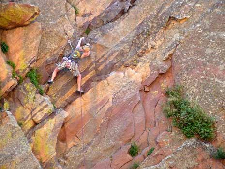 Rock climbing in Colorado