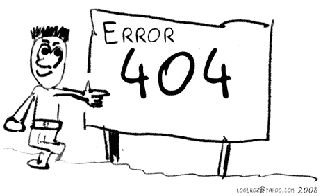 error 404 cartoon