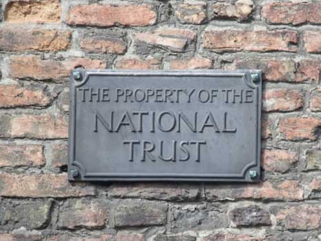 Property of the National Trust sign