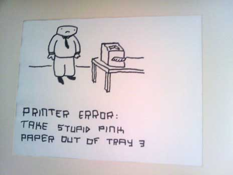 Printer error cartoon