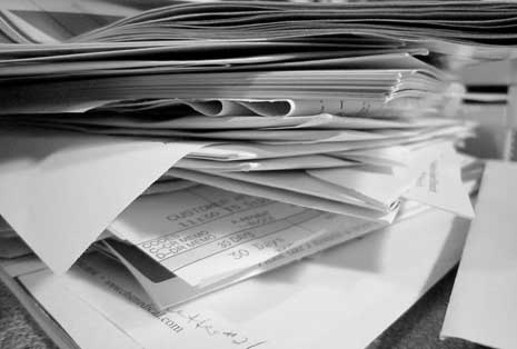 Chaotic stack of papers