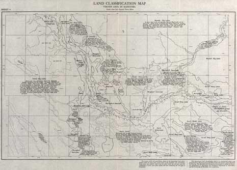 Land classification map