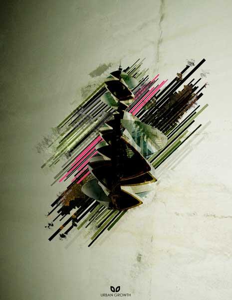 Digital art titled - Urban growth