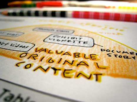 Snippet of a concept map showing valuable original content