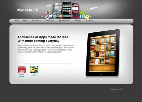 Theme design for Apple's app store