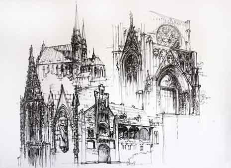 Gothic architecture sketch