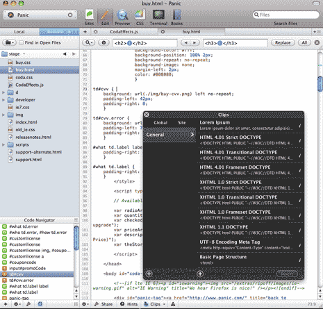 Coda code editor by Panic