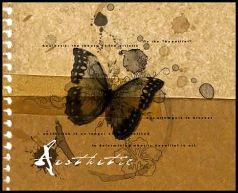 Digital art based on the word Aesthetic