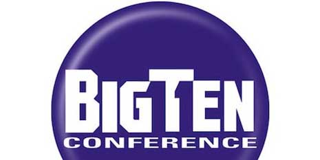 BigTen conference logo forming an 11 with space to signify the conference's 11th member, Penn State