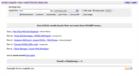 Craigslist search results page