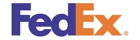 FedEx logo froming an arrow between the E and x