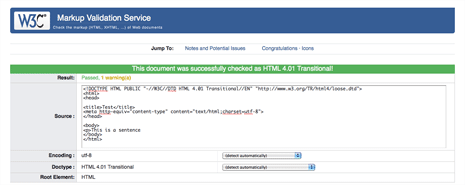 Valid html 4.01 transitional with missing closing tag
