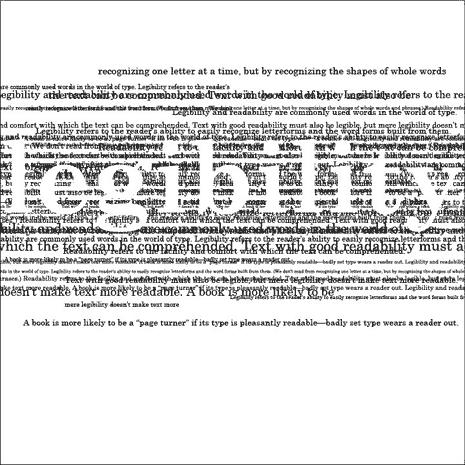 typographic design areound the word legibility