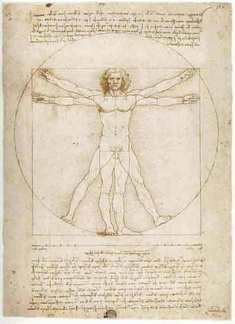 da Vinci's divine proportions of man