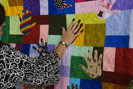 A quilt representing diversity from the 2009 diversity Conference in Salem