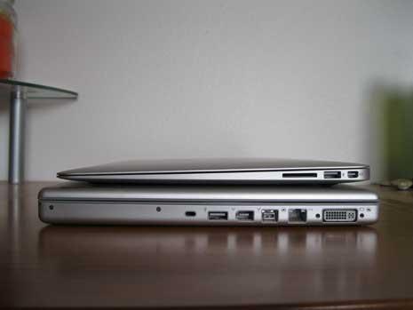 MacBook Air on top of MacBook Pro