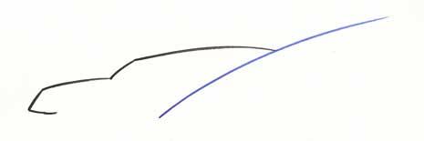 several lines representing a car