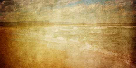 Textured background image of beach